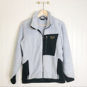 Blue mountain hardware fuzzy jacket M